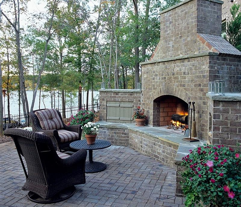 10 Amazing Outdoor Stone Fireplace Ideas to Inspire - Rilane