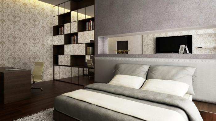 Grey Modern Classic Bedroom Design