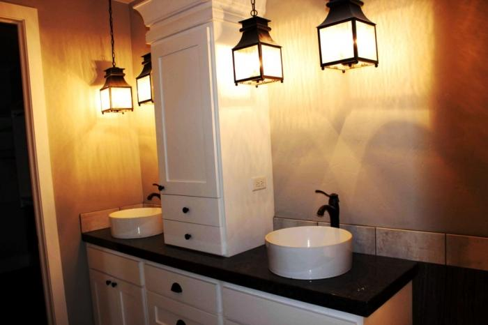 Hanging Lamps Lighting Bathroom Idea