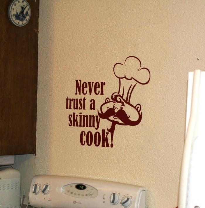 15 wonderful sticker ideas for kitchen wall design - rilane