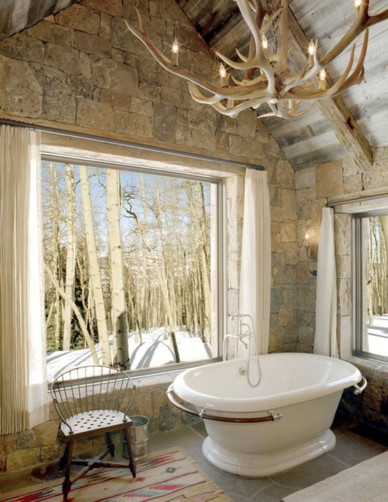 15 Natural Rustic Bathroom Design Ideas - Rilane