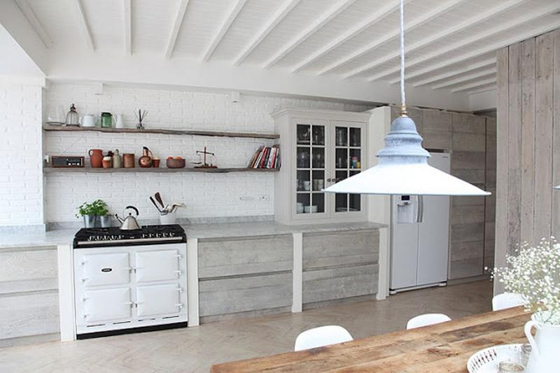 15 Captivating Kitchen Designs with Wood Paneled Walls - Rilane