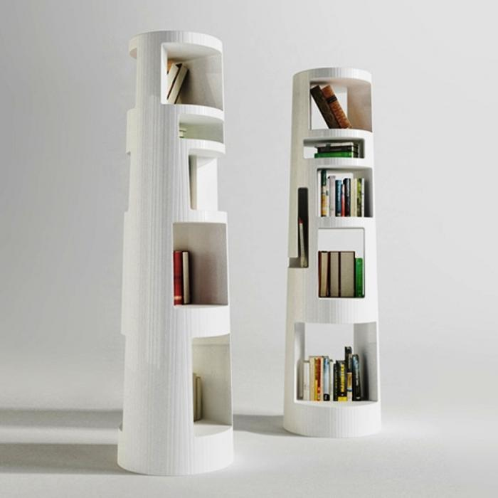 Innovative Multi  Colored Five Tier Bookshelf Design