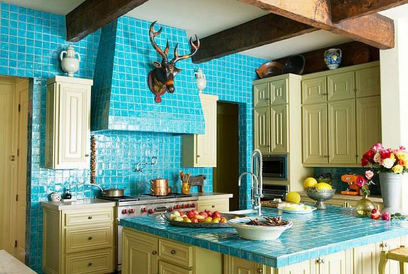 Lively Kitchen With Subway Tiles