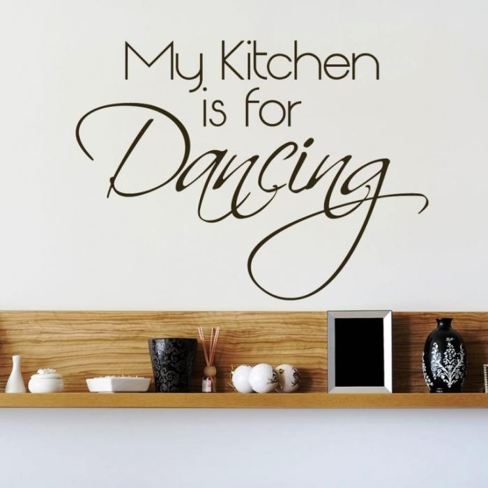 Good Wall Sticker Ideas Part - 8: 15 Wonderful Sticker Ideas For Kitchen Wall Design