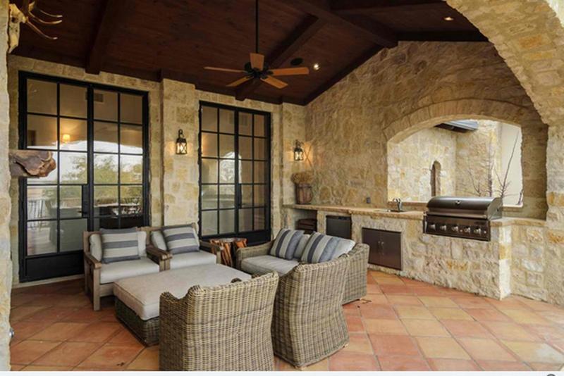 Natural Stone Outdoor Kitchen