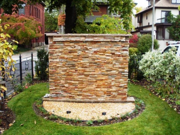 Natural Stone Water Wall