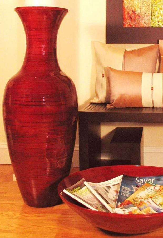 red glossy decorative vase - Decorative Floor Vases