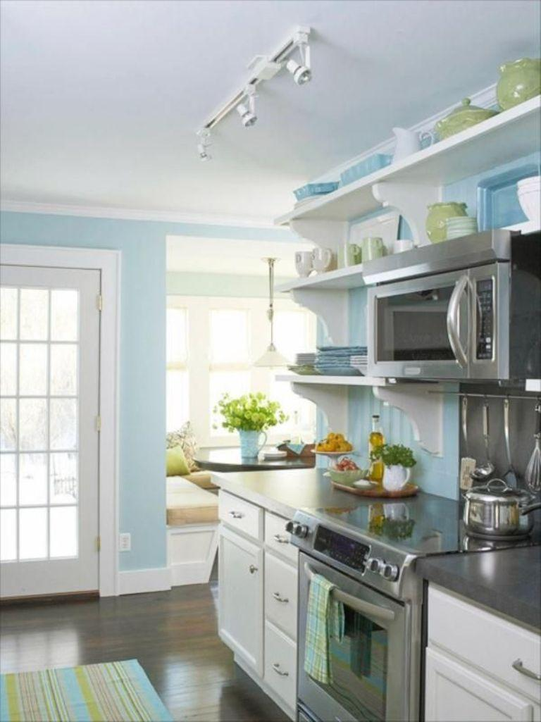 20 Refreshing Blue Kitchen Design Ideas - Rilane