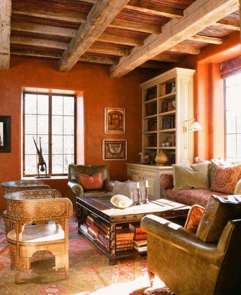 Rustic Orange Living Room