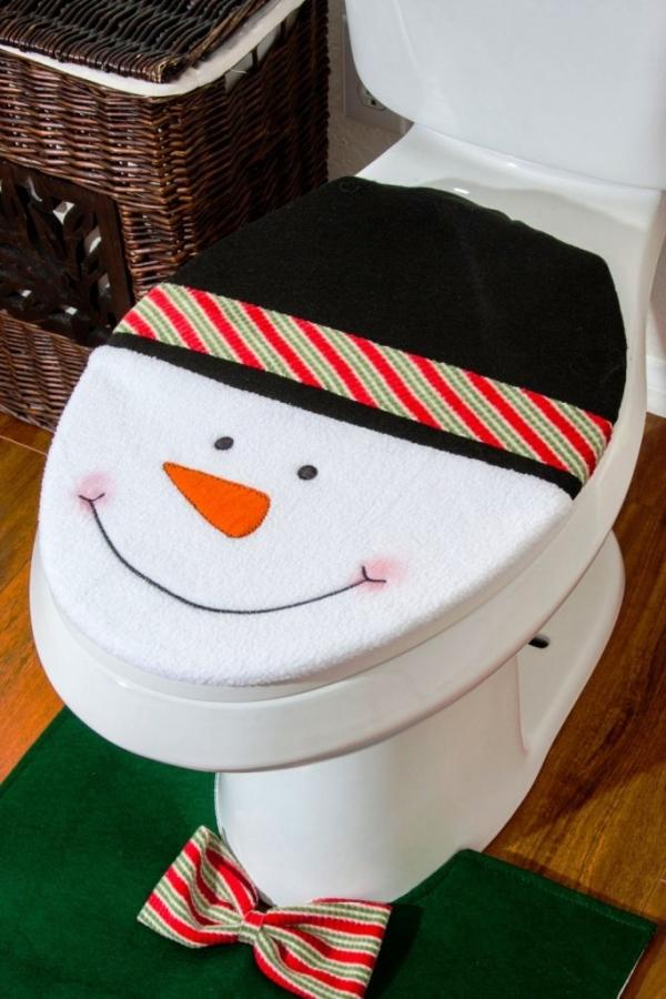Snowman Toilet Cover And Rug
