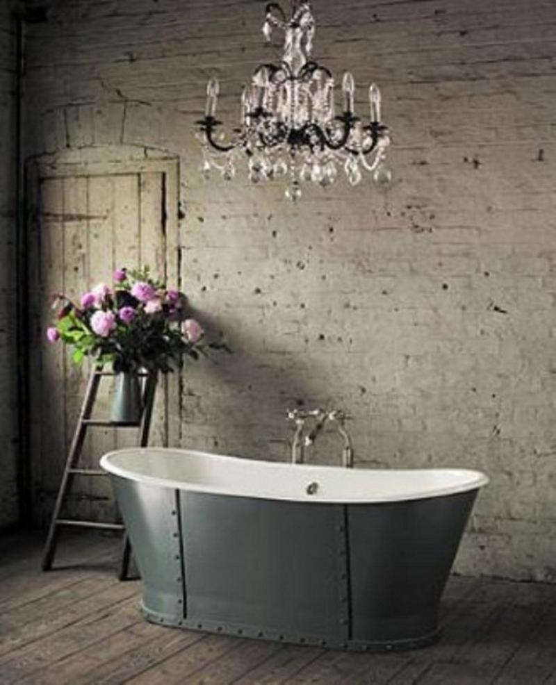15 natural rustic bathroom design ideas rilane for Bathroom decor nature