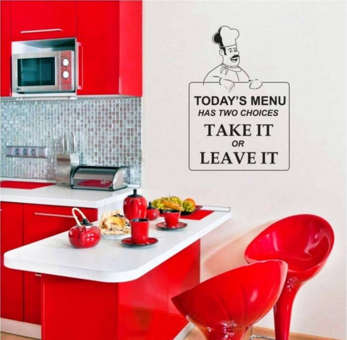 Ideas For Kitchen Wall Decor: 15 Wonderful Sticker Ideas For Kitchen Wall Design