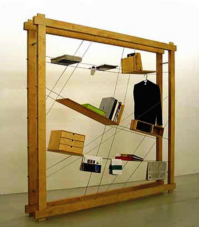 stringed book shelf design