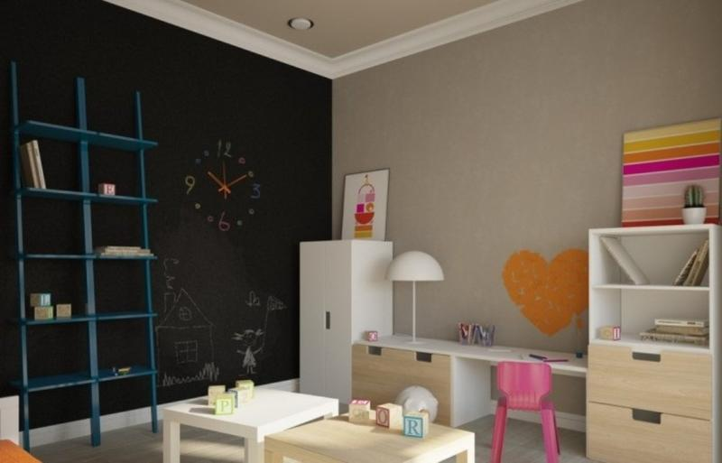 Fun Bedroom With Chalkboard Wall