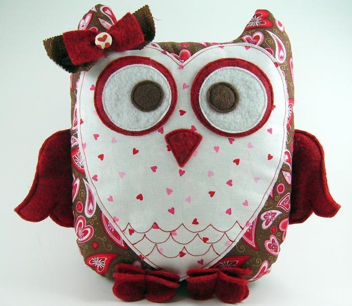 sweetheart owl pillow pattern