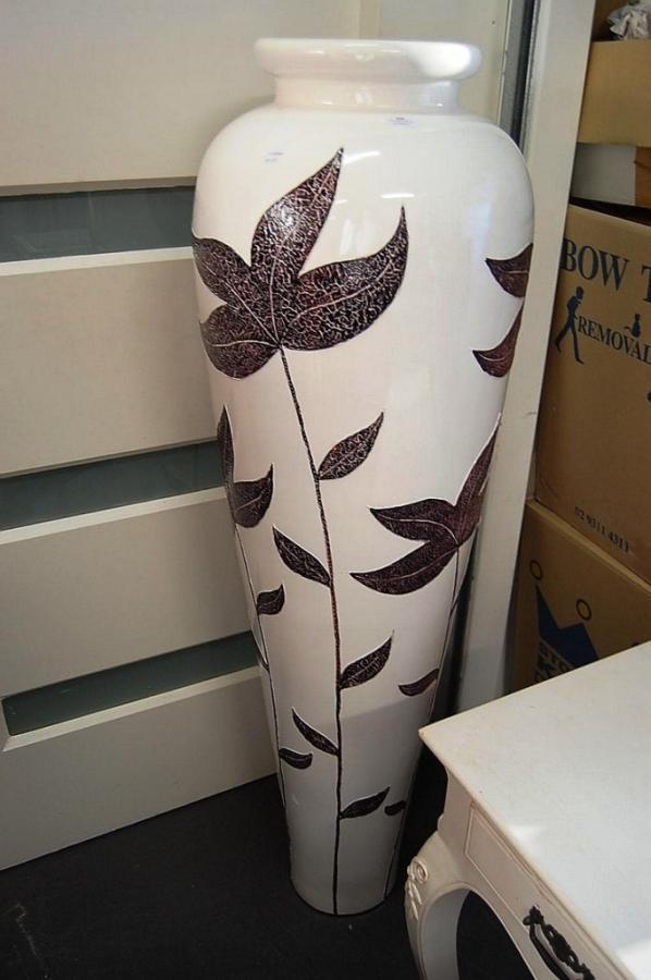 Decorative Giant Floor Vases Rilane - Ceramic tall floor vases