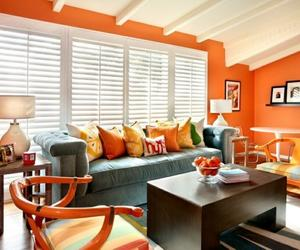 15 Lively Orange Living Room Design Ideas