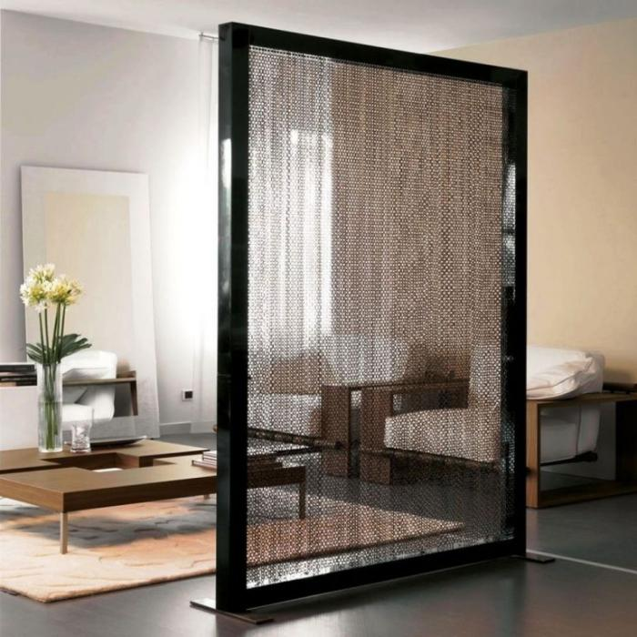 unique divider room made of string in frame idea