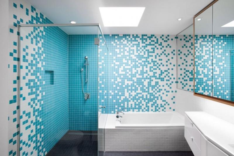 Vibrant Turquoise Bathroom