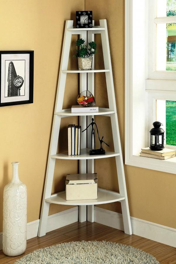 15 outstanding standing bookshelves for your living room rilane - Triangular bookshelf ...