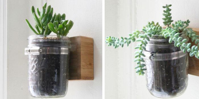 DIY Pallet Mason Jar Herb Garden Tutorial: This Super Creative Pallet With Mason  Jar Herb Garden Will Surely Stand Out Amazingly In Your Backyard.