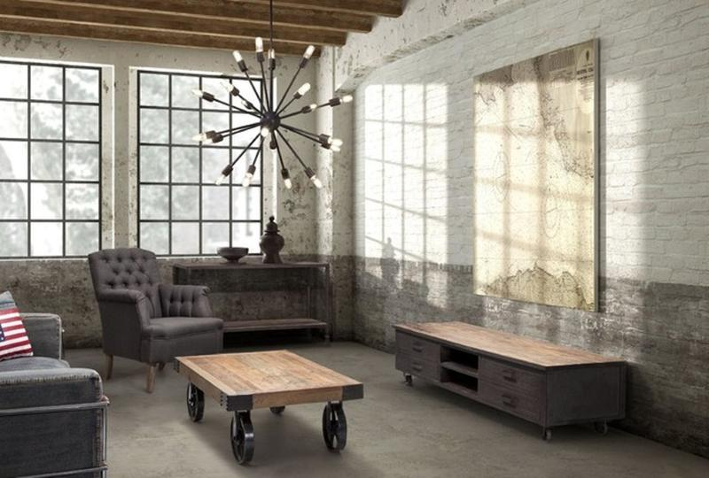 Delicieux 15 Stunning Industrial Living Room Designs