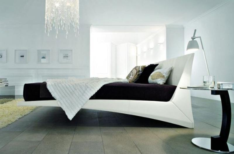 Amazing White Floating Bed