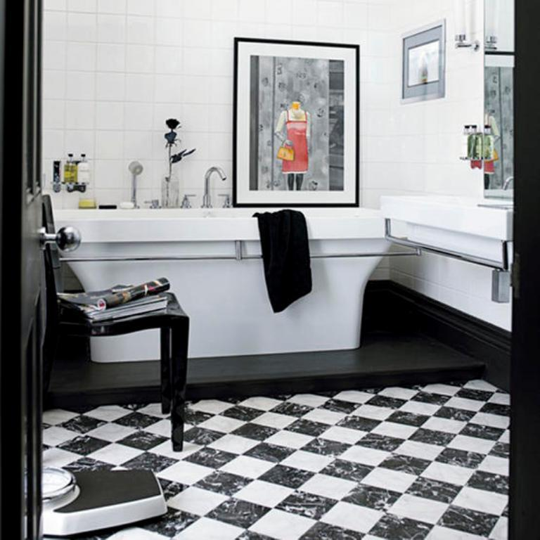 Bold Black And White Bathroom 15 Contemporary Ideas  Rilane