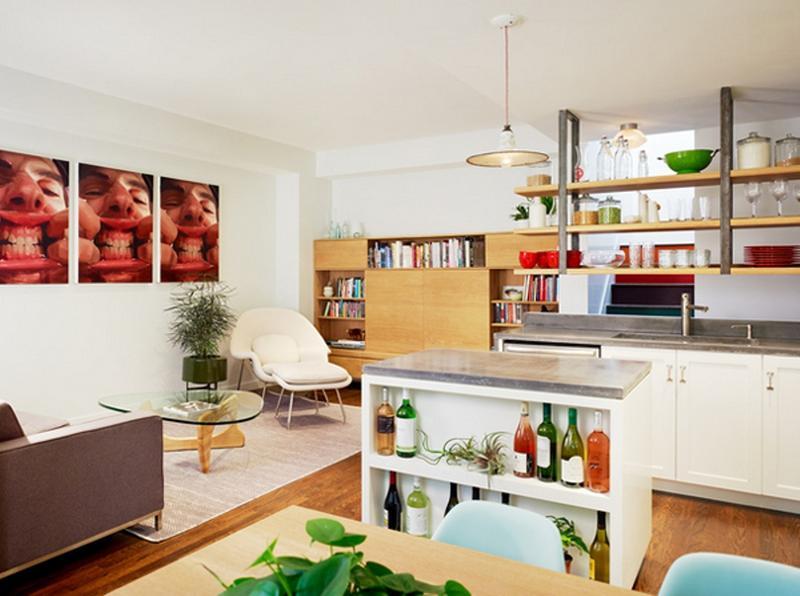 Artsy Mid Century Kitchen