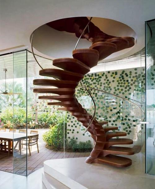 Attractive Awesome Wooden Staircase Design