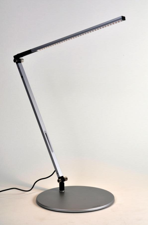 bar solo black led desk lamp with base cool light. Black Bedroom Furniture Sets. Home Design Ideas