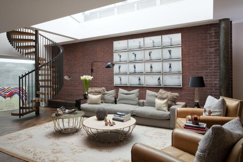 Basement Living Room With Skylight