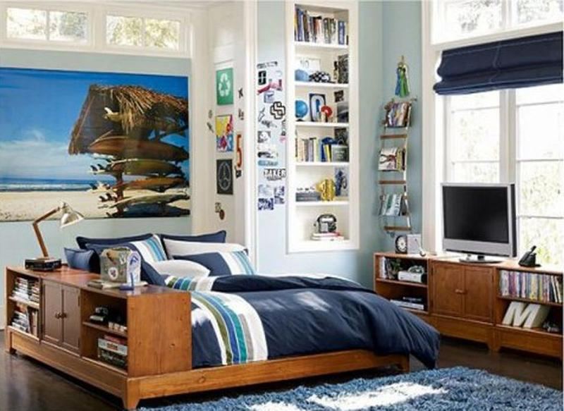 beach inspired teen bedroom