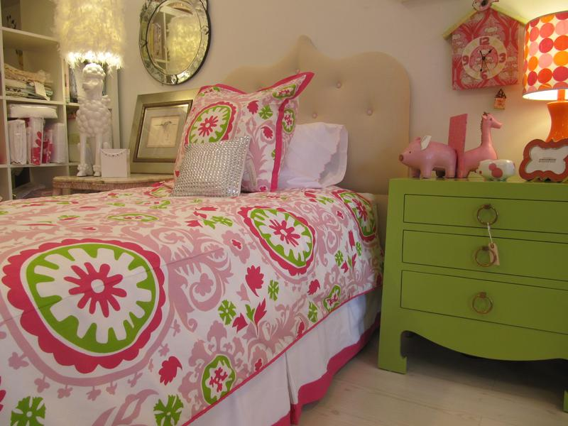 Charmant Beautiful Green And Pink Girly Bedroom