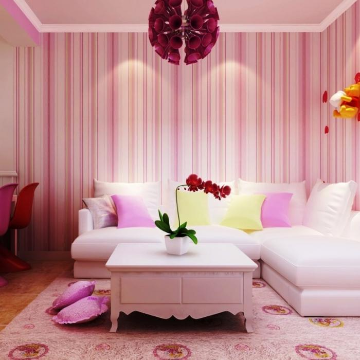 10 Inspiring Living Rooms with Striped Walls - Rilane