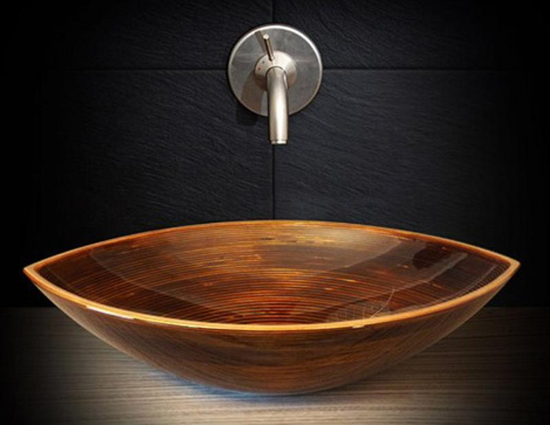 Superbe Beautiful Wood Bathroom Sink