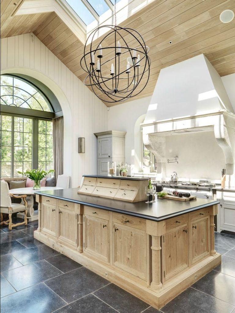 Bleached Oak Kitchen with Skylight