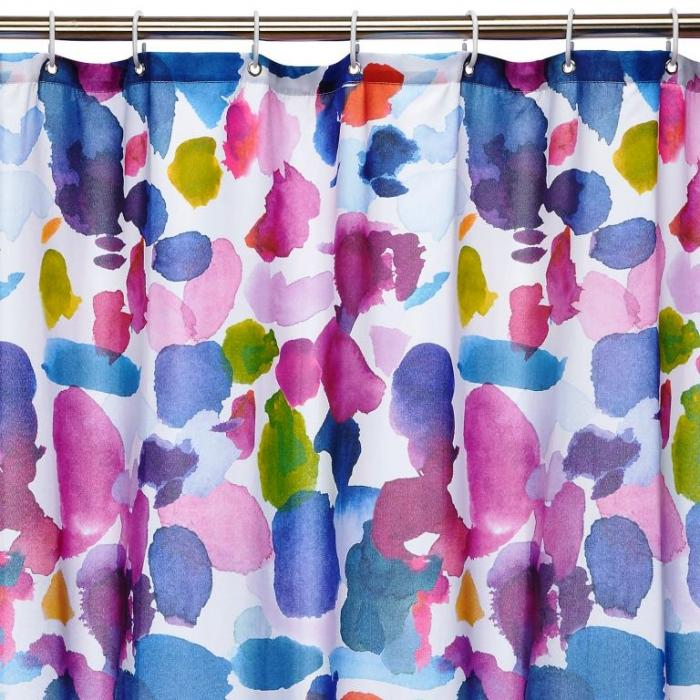Blue Bell Gray Abstract Shower Curtain