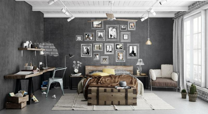 Industrial Bedroom Ideas Cool Design