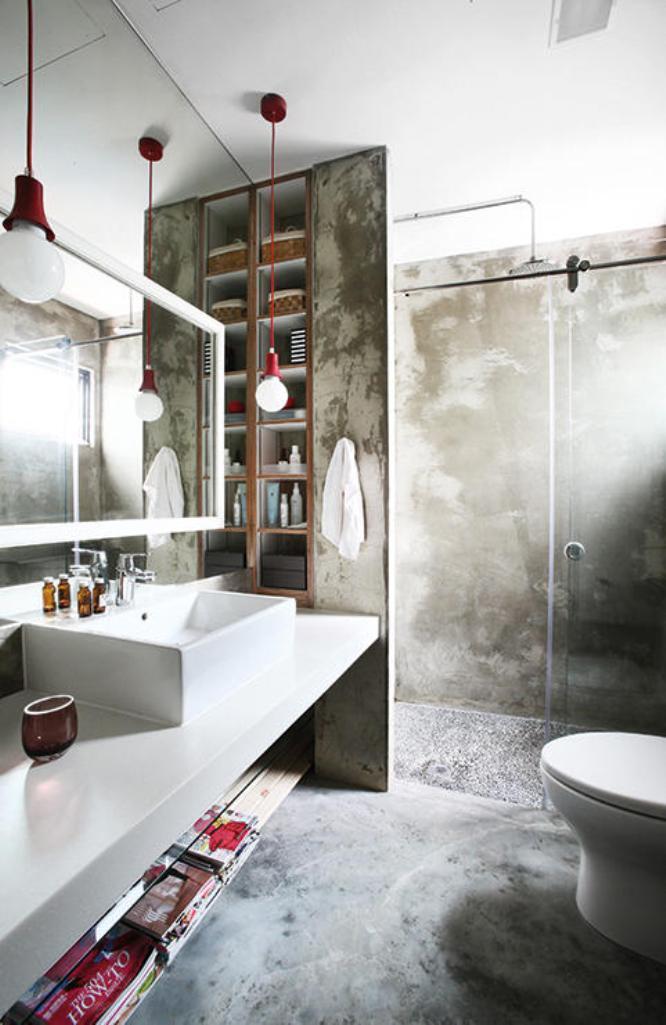 bold industrial bathroom - Industrial Bathroom