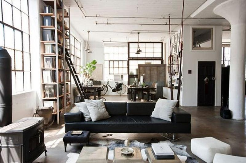 bold industrial living room - Industrial Living Room Decor