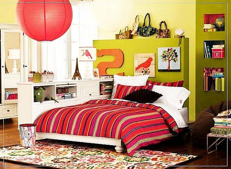 15 teen girl s bedroom ideas to inspire rilane for Bright teenage bedroom designs
