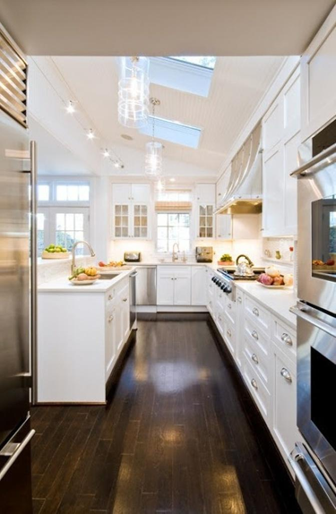 Charming kitchen with Skylights