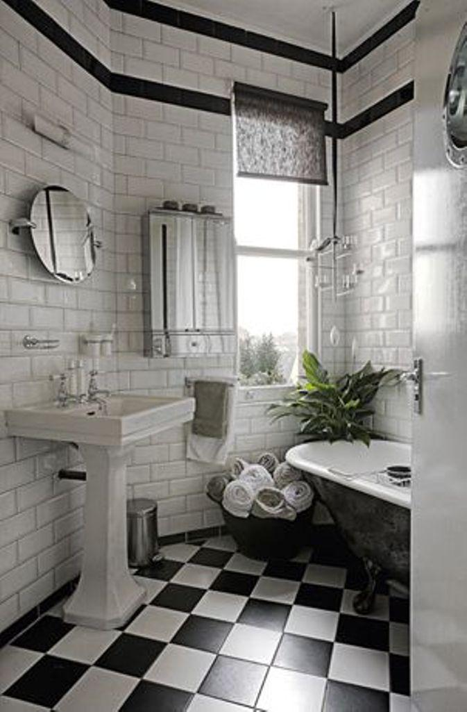 Ideas For Black And White Bathroom Part - 48: Chic Black And White Bathroom