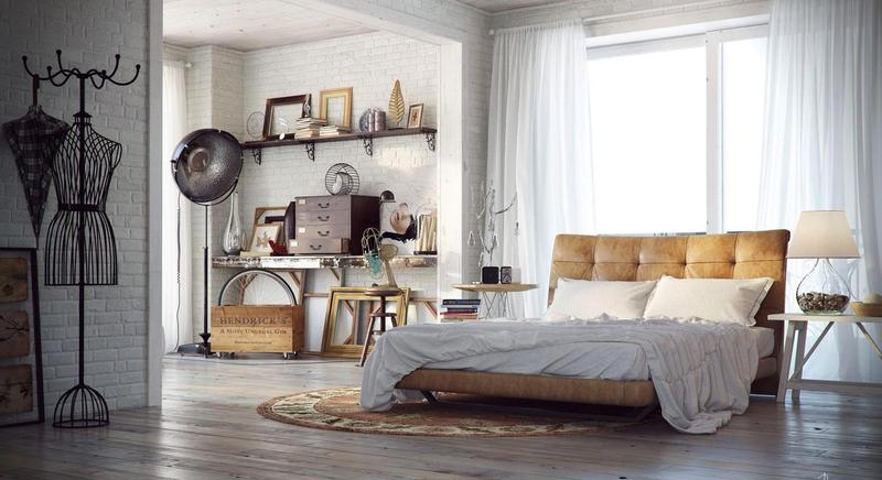 Chic Industrial Bedroom