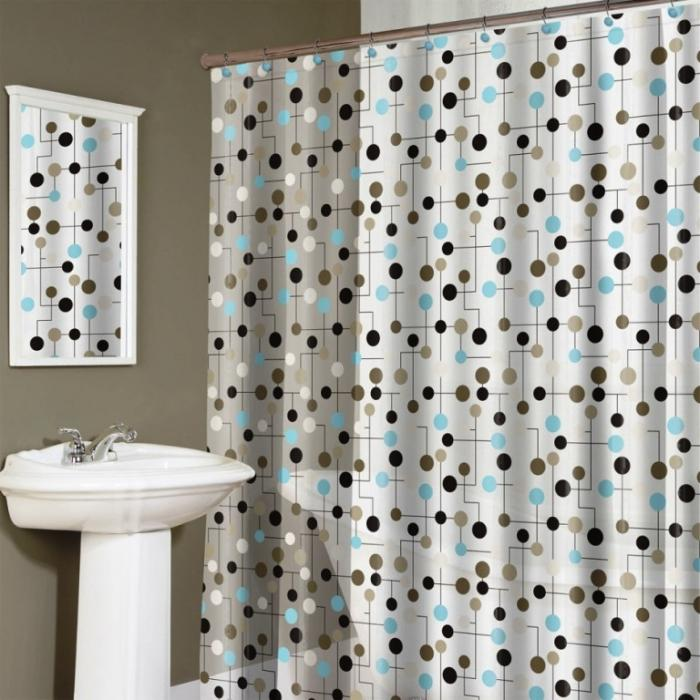 chic polka dotted shower curtains