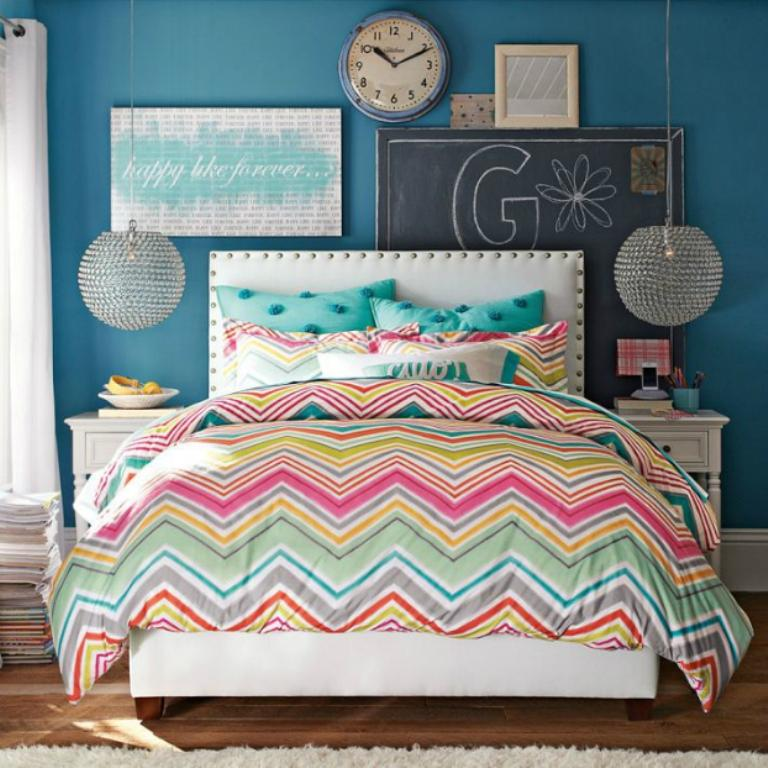 Colorful Chevron Bedding