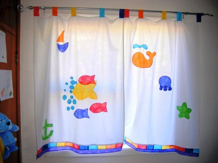 Colorful Painted Kidu0027s Shower Curtain