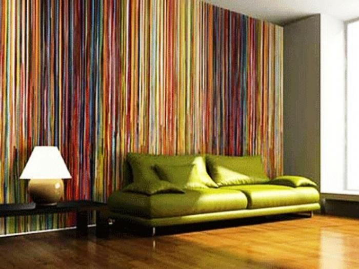 10 Inspiring Living Rooms With Striped Walls Rilane